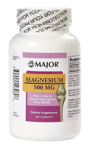 Major Magnesium 500 mg, 100 Tablets