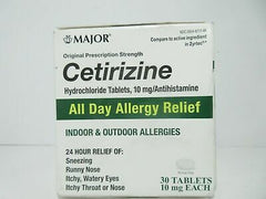 Cetirizine HCL Tablets, All Day Indoor and Outdoor Allergy Relief, 90 count