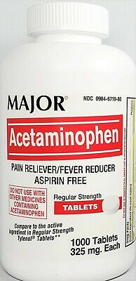 Major MAPAP Acetaminophen 325mg Tablets, 1,000 count