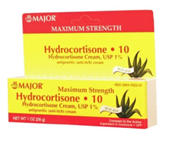 Major Hydrocortisone 10 Cream w/Aloe, 1 Oz