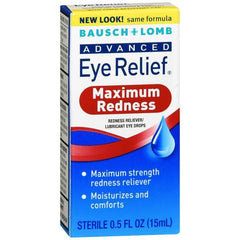 Bausch and Lomb Advanced Redness Relief Drops, 0.5 Fl oz (15 ml)