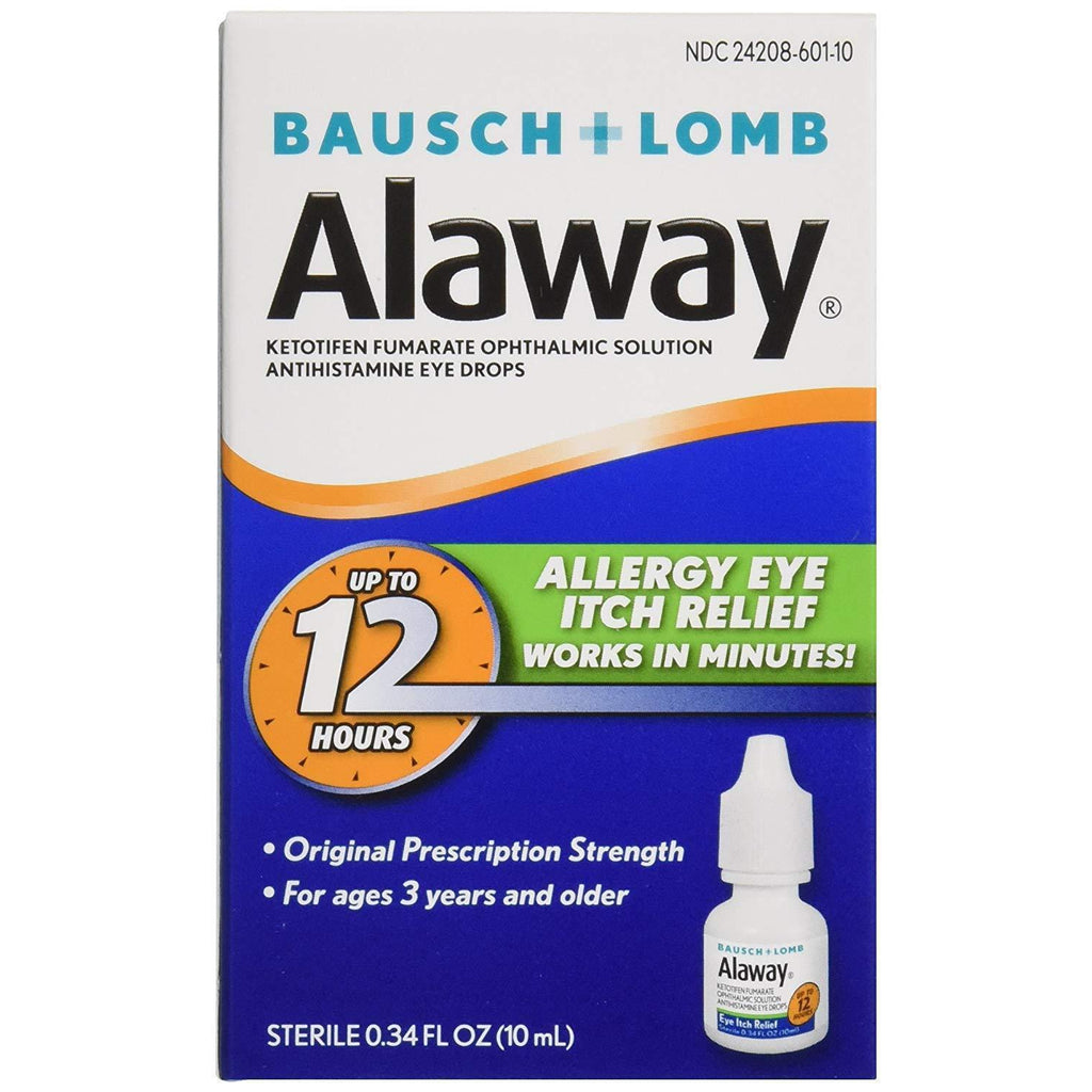 Bausch + Lomb Alaway Antihistamine Eye Drops, 0.34 oz / 10 ml