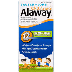 Bausch + Lomb Alaway Children's Antihistamine Eye Drops, 0.17 oz / 5 ml