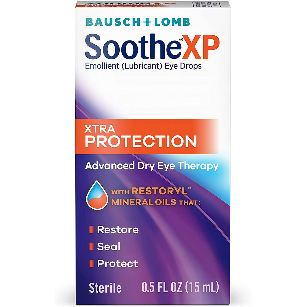 Bausch + Lomb Soothe XP Lubricant Eye Drops, XTRA Protection Formula, 0.5 Fl oz (15 ml)