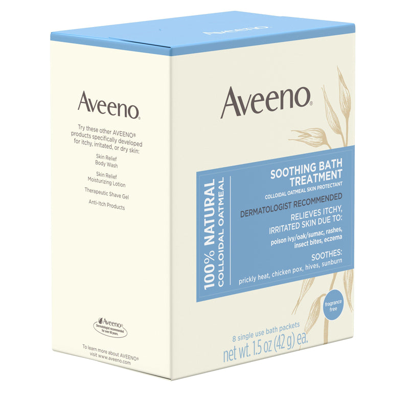 Aveeno Soothing Bath Treatment with Natural Colloidal Oatmeal, 8 ct