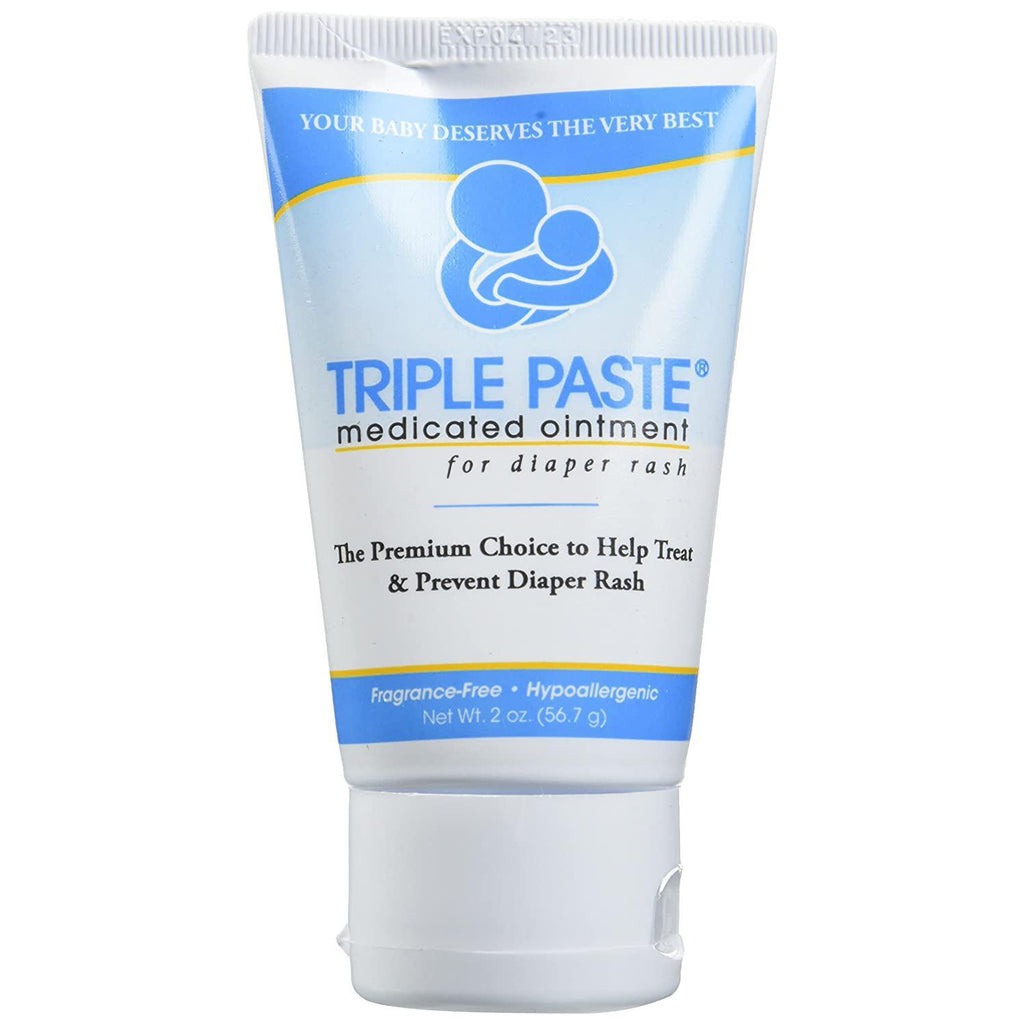 Triple Paste Medicated Ointment for Diaper Rash, Hypoallergenic - 2 oz