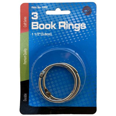"Book Rings, 1.5"", 3 Count"