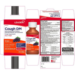 Leader Cough DM, Day and Night, Grape Flavor, 3 fl oz