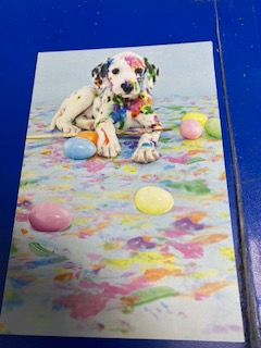 RECYCLED - Puppy With Easter Eggs