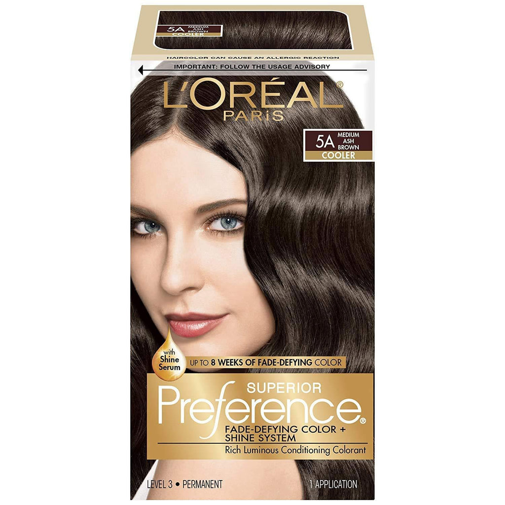 L'Oreal Superior Preference - 5A Medium Ash Brown (Cooler), 1 COUNT
