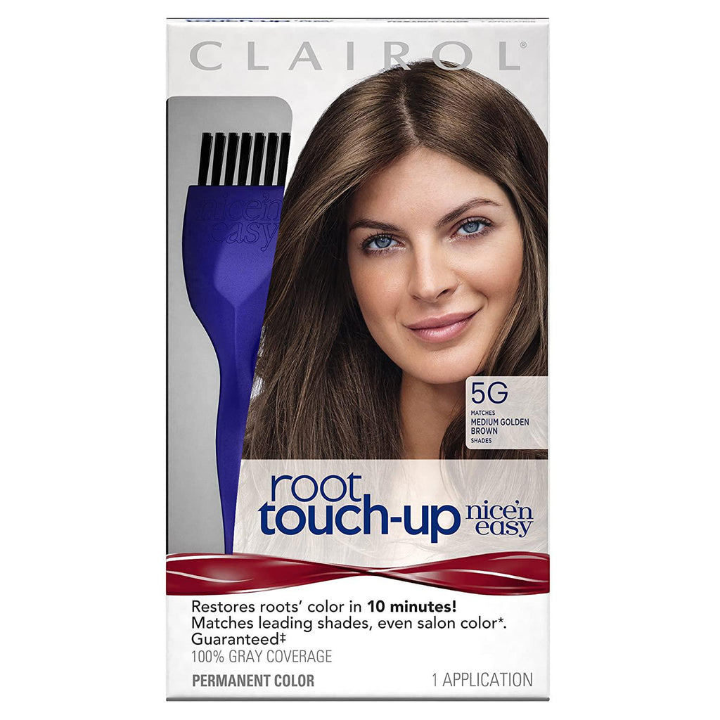Clairol Root Touch-Up Permanent Hair Color Creme, 5G Medium Golden Brown, 1 Count