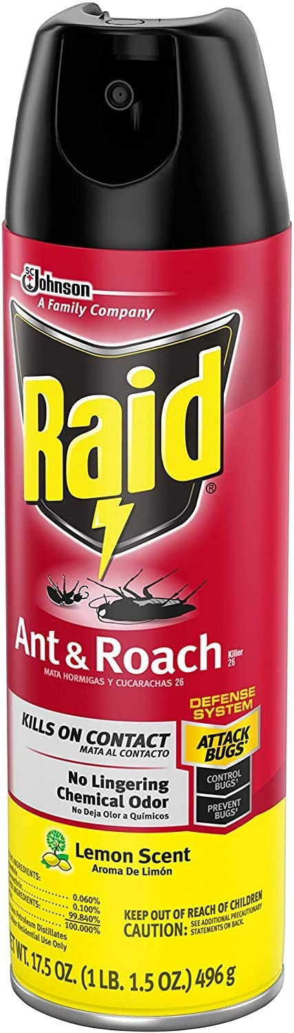 Raid Ant & Roach Killer Lemon Scent, 17.5 OZ