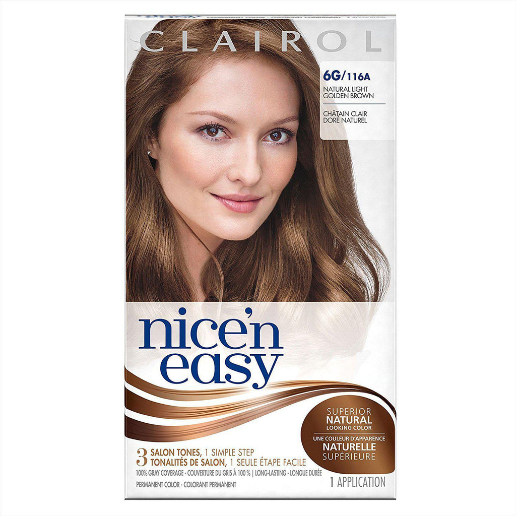 Nice N Easy Hair Color 116A/6G Natural Light Golden Brown, 1 COUNT