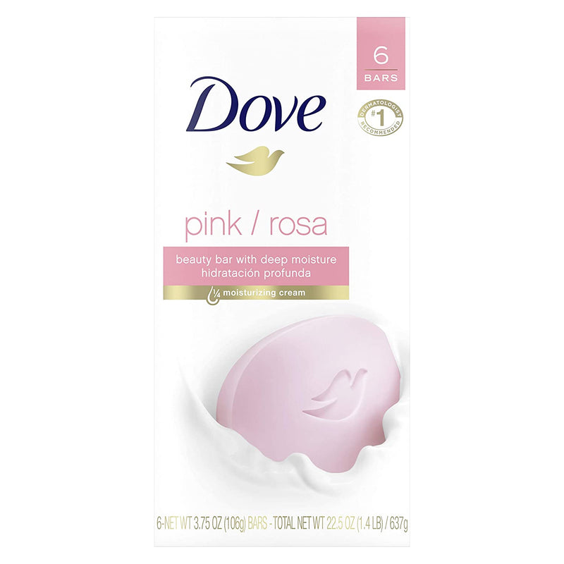 Dove Beauty Bar, Pink, 4 oz (Pack of 6)