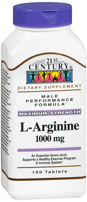 L-ARGININE 1000MG TABLET 100CT 21ST CENTURY
