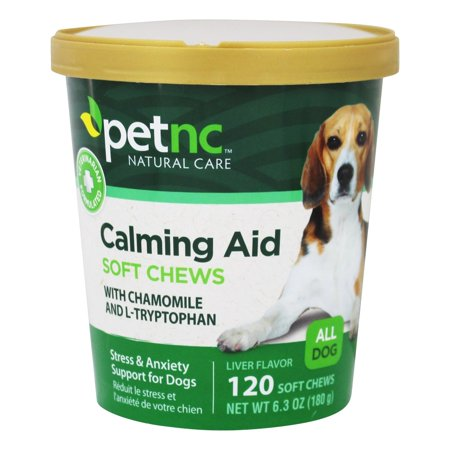 PetNC Calming Aid Soft Chews All Dogs Liver Flavored, 120 Soft Chews