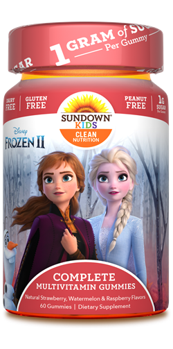 Sundown Kids Disney Frozen Complete Multivitamin Gummies, 60 Count