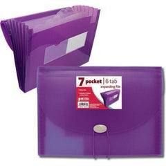 Better Office Products 7 Pocket Expanding Letter File, 1 Count