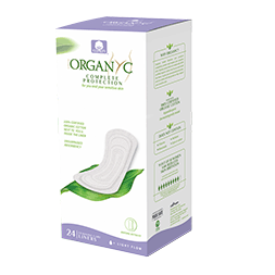 Organyc 100% Certified Organic Cotton Panty Liner – Everyday Pantiliner, Light Flow 24 CT