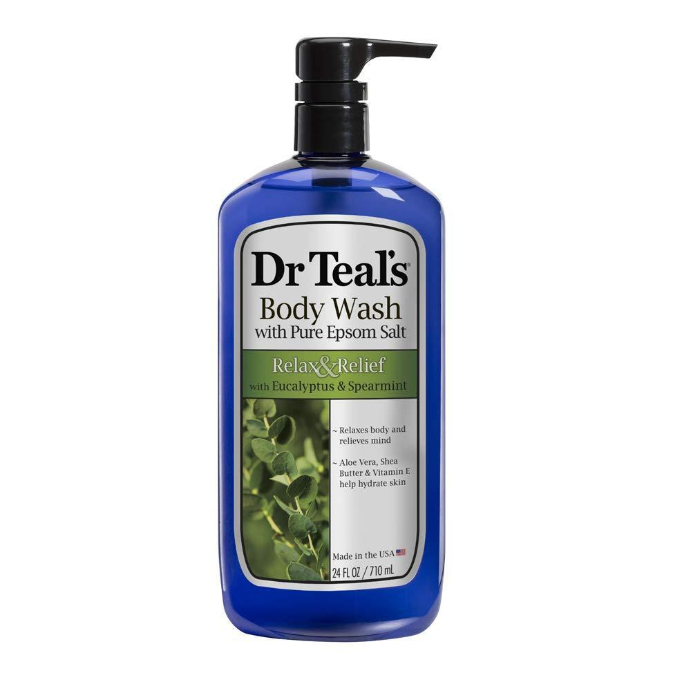 Dr Teal's Ultra Moisturizing Body Wash Relax and Relief with Eucalyptus Spearmint, 24 Fl oz