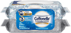 Cottonelle Flushable Wet Wipes for Adults, 42 Wipes per Pack, 2 Packs