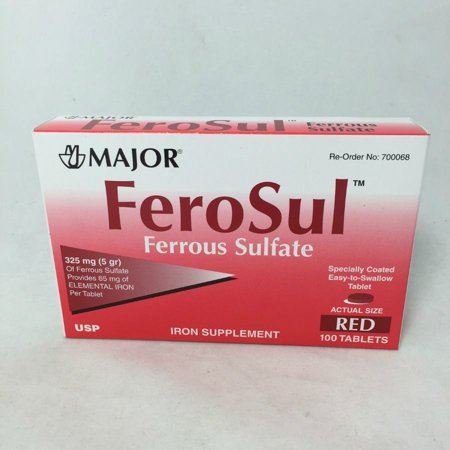 Major FeroSul Red Tablets, 325mg, 100ct