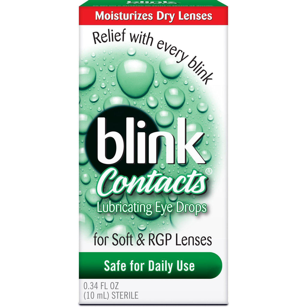 Blink Contacts Lubricating Eye Drops 0.34 Fl oz (10 ml)