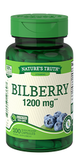 Nature's Truth Bilberry Quick Release Capsules, 1200mg, 100 Count