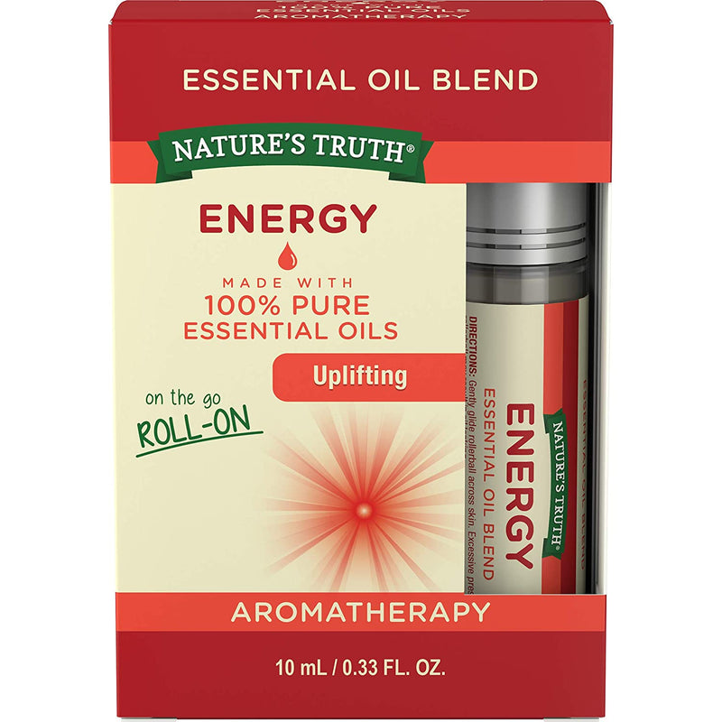 Nature's Truth Energy Essential Oil Roll on Blend, 0.33 Fl Oz