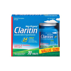 Claritin 24 Hour Non Drowsy Allergy Relief Tablets , 70 Count