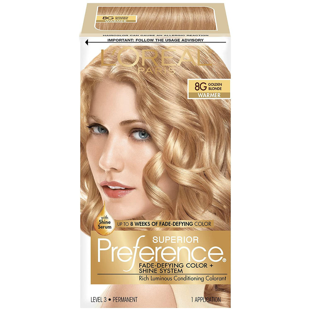 L'Oreal Superior Preference - 8G Golden Blonde (Warmer), 1 COUNT