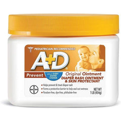 A+D Original Diaper Rash Ointment, Baby Diaper Rash Cream and Skin Protectant With Lanolin, 16 oz