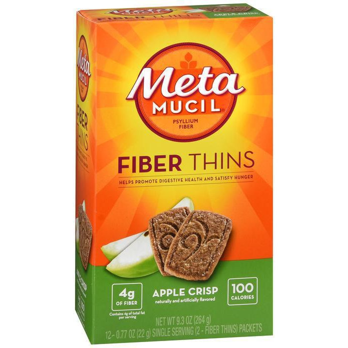 Metamucil Fiber Wafers Apple Crisp Packets