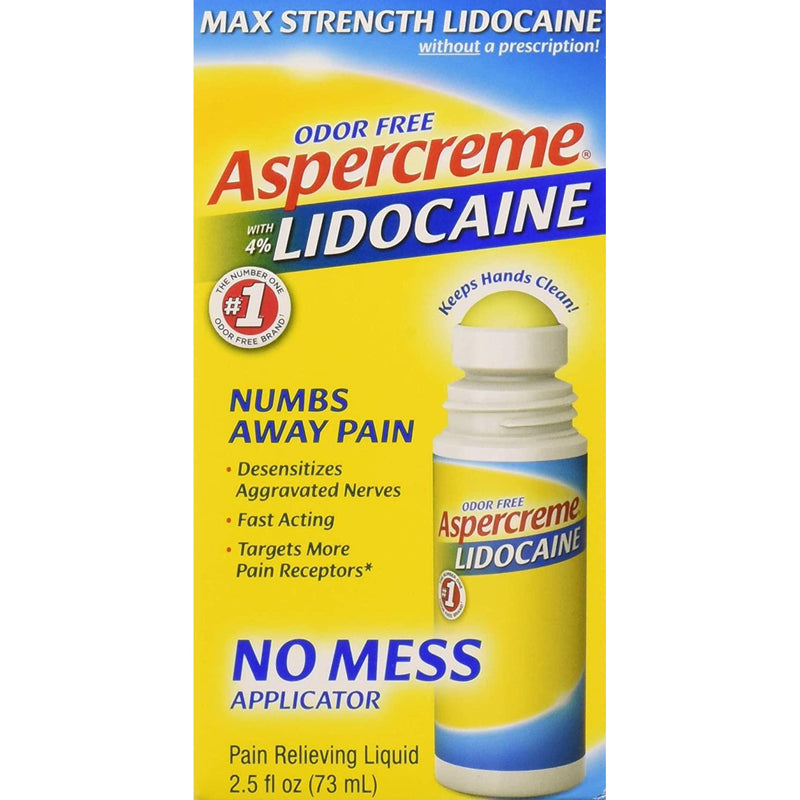ASPERCREME with 4% Lidocaine No Mess Applicator, 2.5 oz.