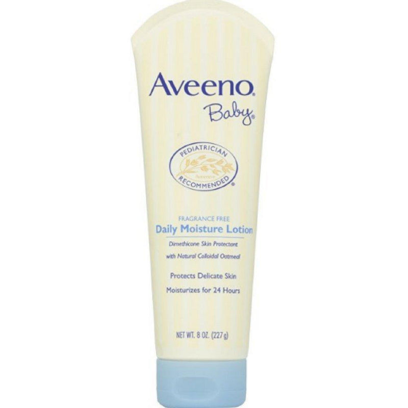 Aveeno Baby Daily Moisture Lotion with Natural Colloidal Oatmeal & Dimethicone, Fragrance-Free, 8 oz