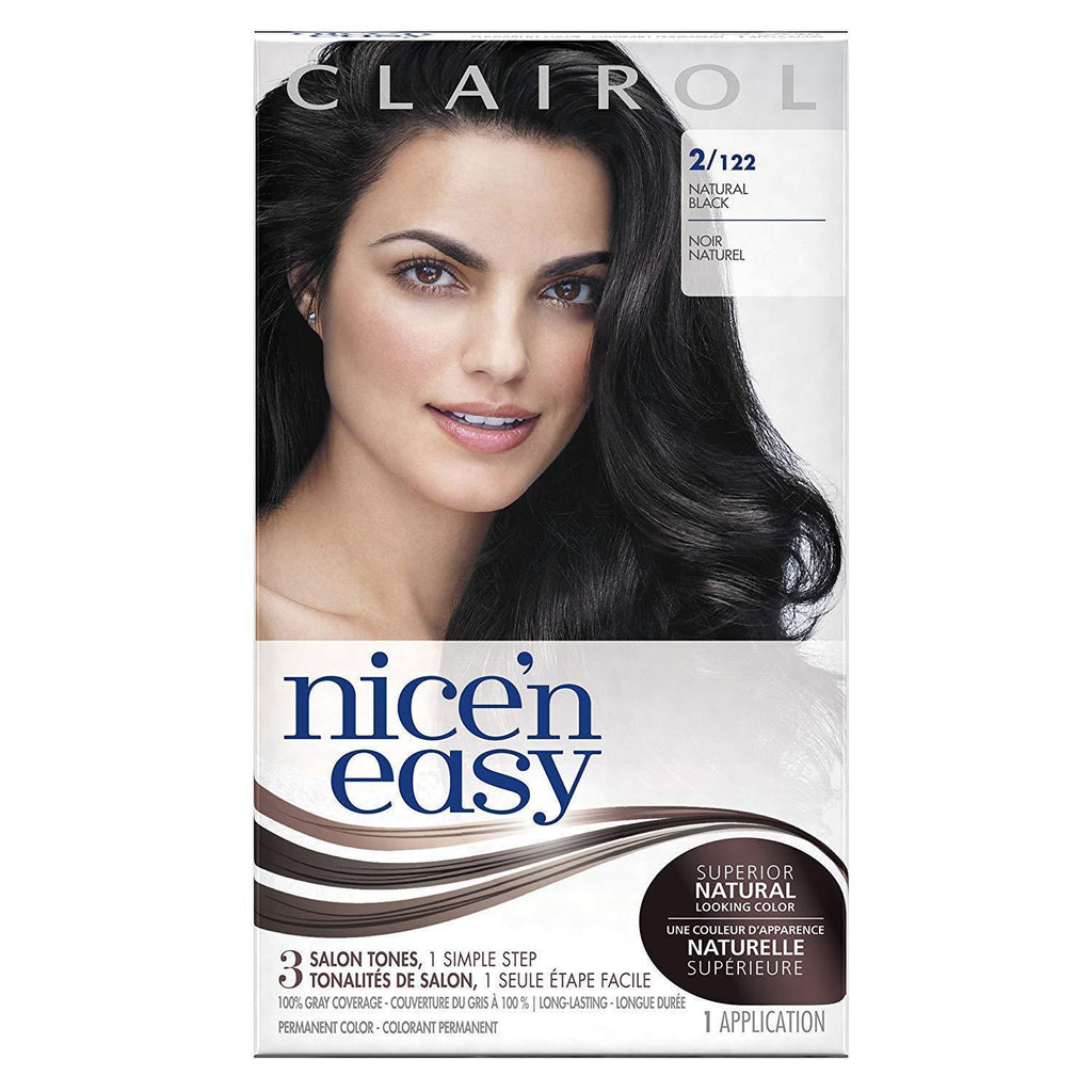 Clairol Nice 'n Easy Permanent Color, 2/122 Natural Black, 1 COUNT