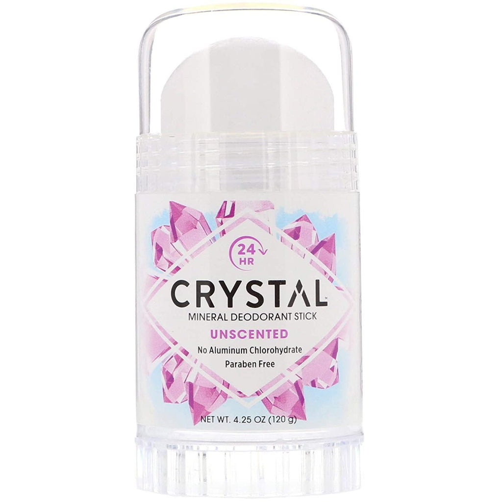 Crystal Mineral Deodorant Stick, Unscented 4.25 oz
