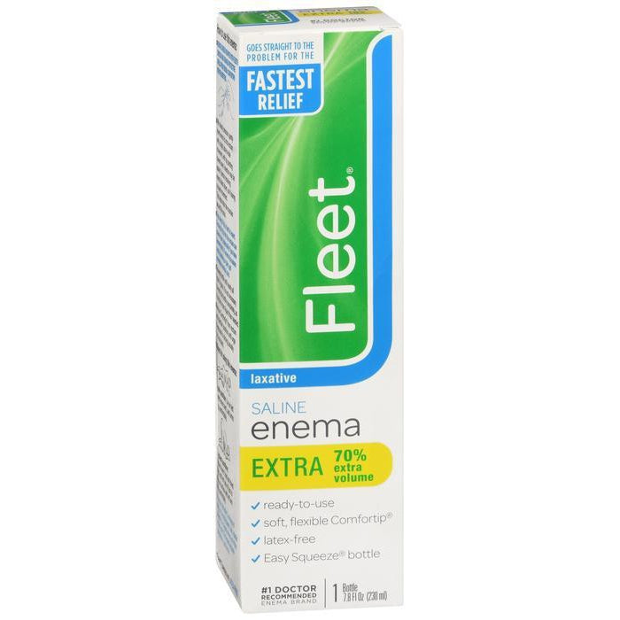 Fleet Enema, Ready-to-Use Saline Laxative - 7.8 oz