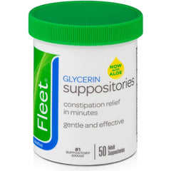 Fleet Laxative Glycerin Suppositories for Adult Constipation - 50 Count