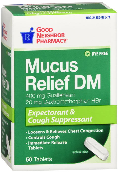 GNP Mucus Relief DM - 50 tablets