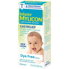 Infants' Mylicon Gas Relief Drops for Infants and Babies, Dye Free Formula, 1 oz