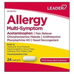 Leader Multi-Symptom Allergy Relief, 24 Tablets