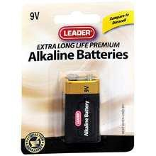 Leader 9V Batteries, 1 Pack