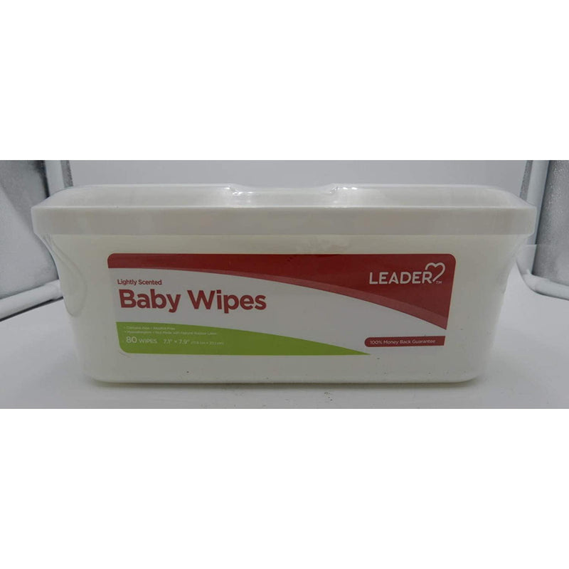 Leader Lightly Scented Baby Wipes 80 Count, 1 Pack