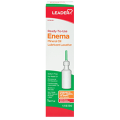 Leader Ready to Use Enema Mineral Oil Lubricant Laxative - 4.5 oz
