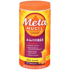 Metamucil, 4 in 1 MultiHealth Fiber Powder, Orange Smooth - 72 tablespoons