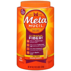 Metamucil, 4 in 1 MultiHealth Fiber Powder, Orange Smooth - 114 tablespoons
