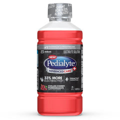 Pedialyte AdvancedCare+ Electrolyte Drink with 33% More Electrolytes and has PreActiv Prebiotics, Chilled Cherry Pomegranate, 33.8 oz (1 Liter)