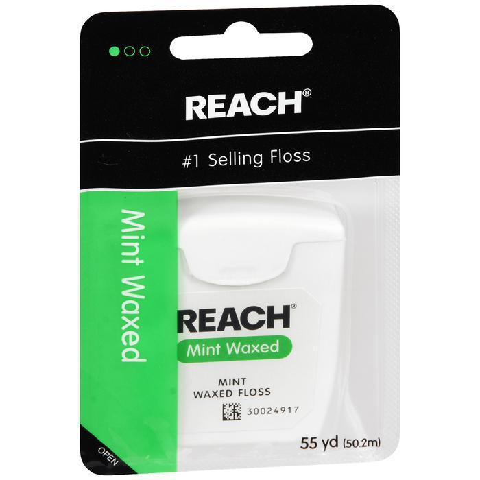 Reach Waxed Dental Floss, Refreshing Mint Flavor, 55 Yards