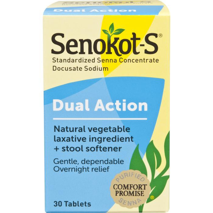 Senokot-S Dual Action Tablet - 30 count